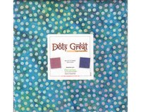 Batik-Precuts Layer Cake BALI DOTS GREAT, 42 Quadrate