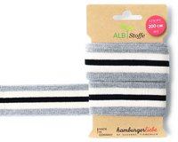 Strick-Band STRIPE ME GLAM CHECK POINT, Streifen, grau,...