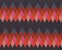 Jacquard-Strick BLISS PEAK, Rauten, orange-marine, Albstoffe