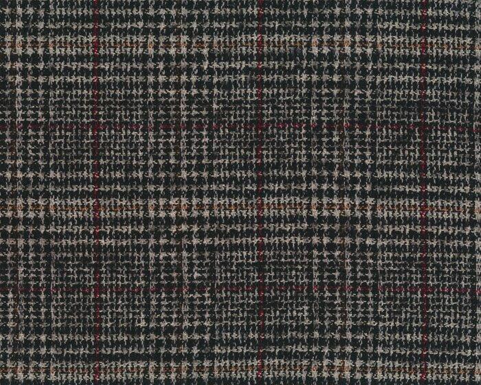 Wollstoff Glencheck Karo schwarz rot