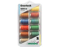 Miniking-Box Overlockgarn AEROLOCK, Multicolor, 12 x 1200...