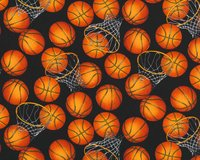 Patchworkstoff SPORTS, Basket-Bälle, Timeless Treasures
