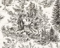 Patchworkstoff WOODLAND FOREST, Flusslandschaft