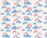 Baumwolljersey OCEAN BREEZE CLOUD, Regenbogen