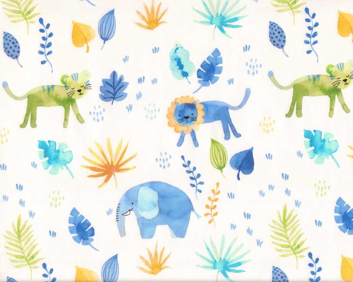 CELEBRATION MODA PATCHWORK FABRIC ELEPHANTS