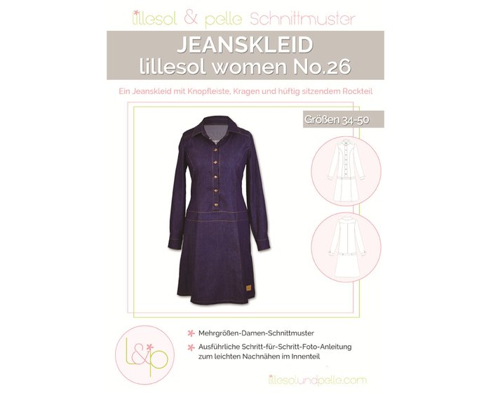 Damen-Schnittmuster Jeanskleid, lillesol women No.26