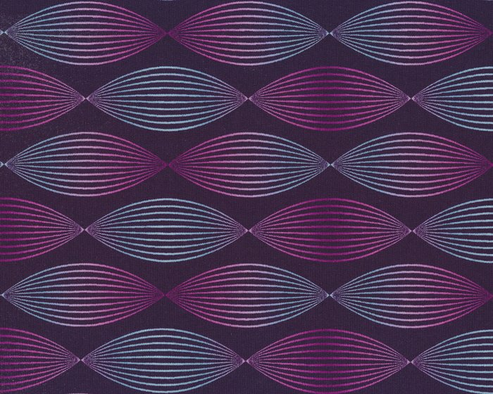 Modalsweat LINES & DOTS, 3-D-Spirale, aubergine, Lycklig Design