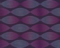 Modalsweat LINES & DOTS, 3-D-Spirale, aubergine, Lycklig...