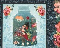 95-cm-Rapport Patchworkstoff MERMAIDS AND UNICORNS,...