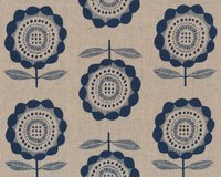 Canvas-Patchworkstoff KIBORI, Kreisblumen, Cotton + Steel