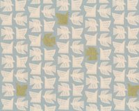 Patchworkstoff KIBORI, Tauben, gold metallic, Cotton + Steel