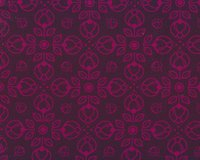 Sweatstoff PRETTY BLOOM, Ornamentblumen, aubergine,...