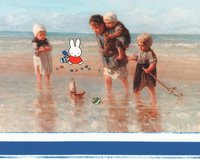 50-cm-Panel Baumwolljersey MIFFY®, Kinder am Strand, blau