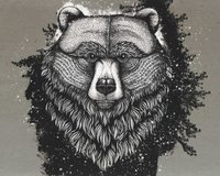 85-cm-Panel Sweatstoff GRIZZLY by Thorsten Berger, natur...