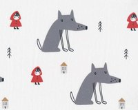 Bio-Baumwolljersey LITTLE RED RIDING HOOD und der Wolf,...