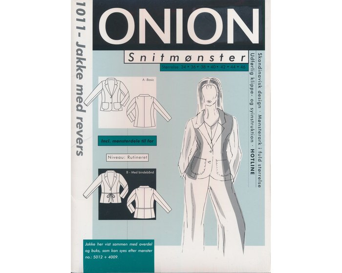 Jacke mit Revers,Schnittmuster ONION 1011