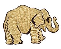 Applikation ELEFANT, gold-metallic, Prym