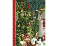 60-cm-Panel Patchworkstoff FIRESIDE KITTENS,...