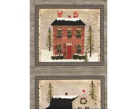 60-cm-Rapport Patchworkstoff SNOW VILLAGE,...