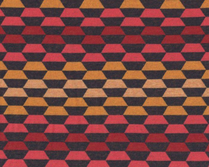Jacquard-Strick LAID BACK, Hexagone, rot, Albstoffe