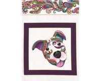 60-cm-Metallic-Patchworkstoff DOG ON IT, Hundebilder,...