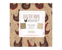 Precuts Charm Pack QUILTER BARN PRINTS 2, 42 Quadrate,...