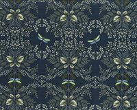 Baumwollstoff NATURAL BEAUTY, Libellen, nachtblau, ring a...