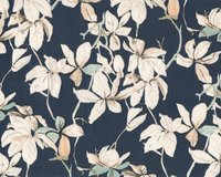 Tencel™-Twill FLORIS, Obstbaum, dunkelblau, Toptex