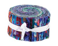 Precuts Jelly Roll KAFFE FASSETT 2020, blau