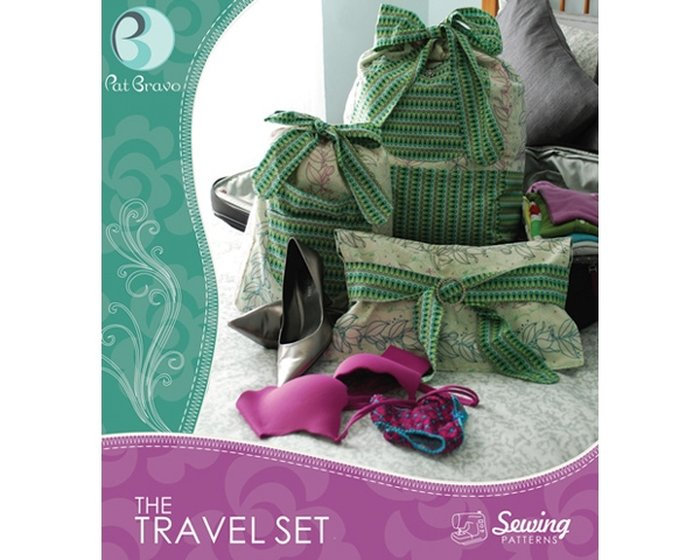 Pat Bravo - Sewing Patterns The Travel Set, Taschen-Schnitt, 3-teiliges Reiseset