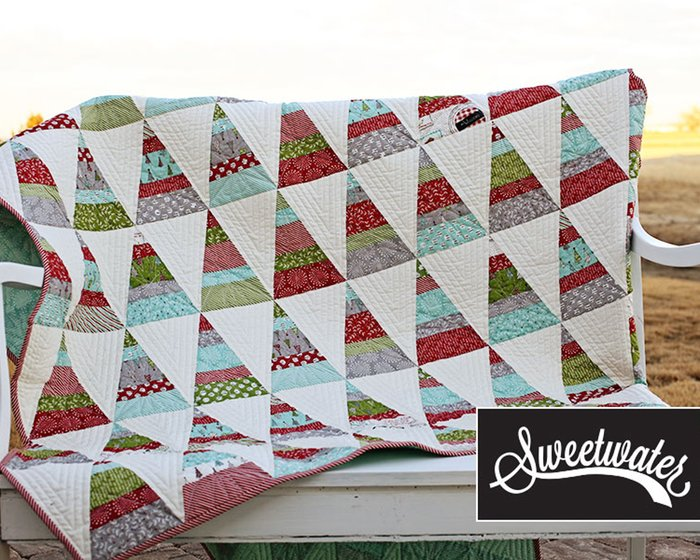 Patchwork-Anleitung THE TREE FARM, Weihnachts-Quilt