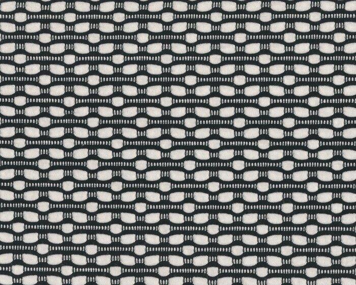 Leichter Viskose-Jersey-Crash BOUTONS, Ovalketten, schwarz-gebrochenes weiß 5a756f34fd