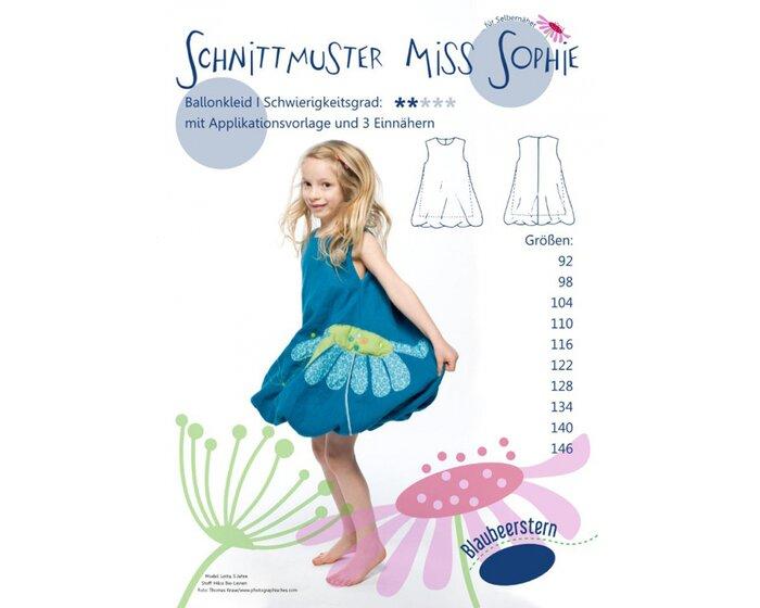 Kinder-Schnittmuster Ballonkleid MISS SOPHIE, Blaubeerstern